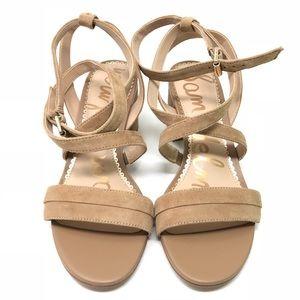 932d00d5cf6 Sam Edelman Shoes - Sam Edelman Sammy Block Heel Sandals Camel Suede